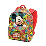 Mickey Mouse Delicious Kinder-Rucksack, 32 cm, Rot (Rojo)