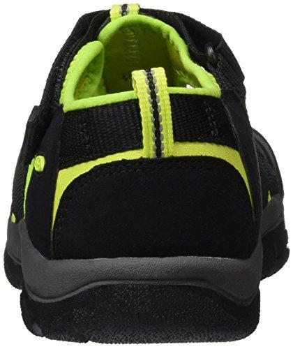 Keen Unisex-Kinder Newport H2 Sandalen, Schwarz (Black/Lime Green), 39 EU -