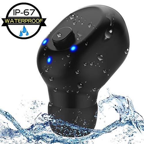Mini bluetooth earbud wireless, ipx6 impermeabile, 75 ore in standby, anti-noice sport vivavoce chiamata senza fili bluetooth auricolare con microfono, [caricatore magnetico usb]