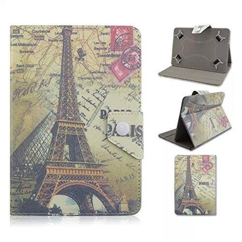 tsmine Fashion Flip Schutzhülle für Alcatel Tablet PC Retro Paris Eiffel Tower Alcatel One Touch PIXI3 7