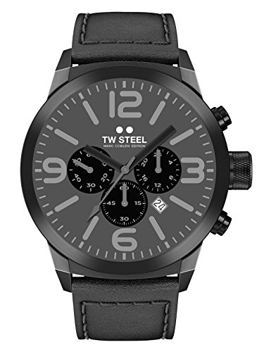 TW Steel Marc Coblen Edition Chrono mit Lederband 50 MM Grey/Black TWMC65