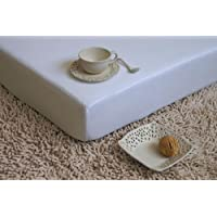 JERSEY drap-housse 140x200 blanche! 1A qualité - 135g/m² grammage!