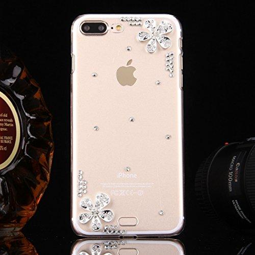 Hülle für iPhone 7 plus , Schutzhülle Für iPhone 7 Plus Diamond verkrustet drei Schmetterlinge Pattern PC Schutzhülle Back Cover ,hülle für iPhone 7 plus , case for iphone 7 plus ( SKU : IP7P0099C ) IP7P0099T