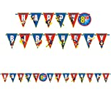 DC Super Hero Girls Wonder Woman Supergirl Batgirl Party Add an Age Letter Banner by DC Superhero Girls