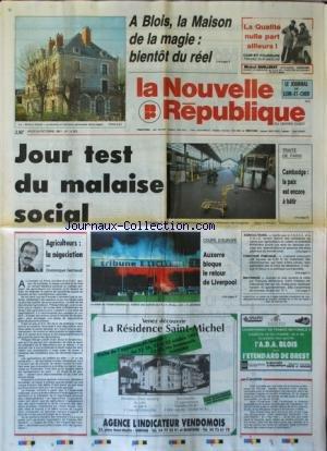 NOUVELLE REPUBLIQUE (LA) [No 14302] du 24/10/1991 ...