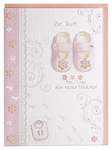 Taufkarte Taufe Mädchen rosa