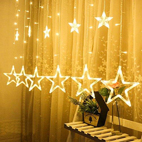 ihnachten Hängende Vorhang Lichter String Net Weihnachten Home Party Home Dezember (Gelb) (Halloween Decor Party Stadt)