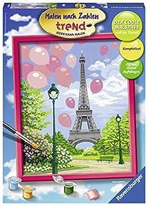 Ravensburger Frühling in Paris Kit de Pintura por números - Libros y páginas para Colorear (Kit de Pintura por números, 1 páginas, Niño, Niño/niña, 12 año(s), 24 cm)