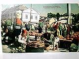 Brotverkäufer in Bosnien. Prodavaoci hljeba u Bosni. Seltene, alte AK farbig, gel. als Feldpost 1917. Marktreiben, Brotfladen, Personen, Gebäude, 1. WK