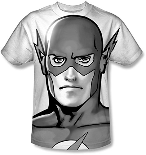 Justice League, The - Herren-Bw Blitzkopf-T-Shirt, XX-Large, White