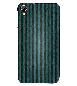 FUSON Green Vertical Strips Background 3D Hard Polycarbonate Designer Back Case Cover for HTC Desire 828 Dual Sim