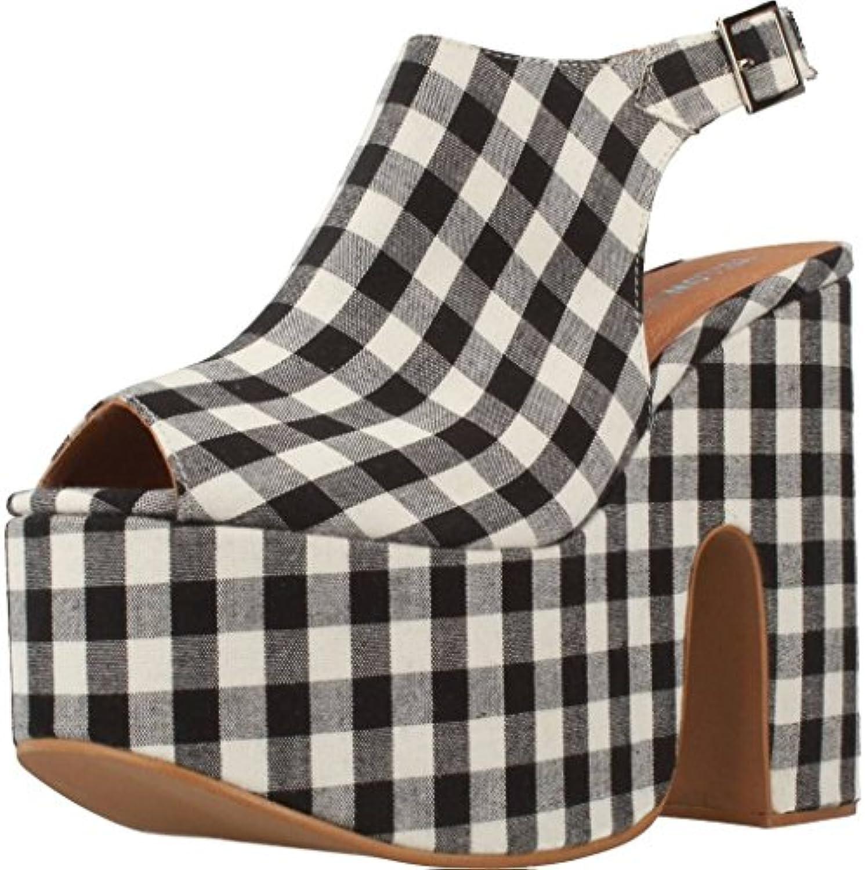 Moda Nuevo Zapatos con Tacon Alto para Mujer Plataforma 43 EU|Black