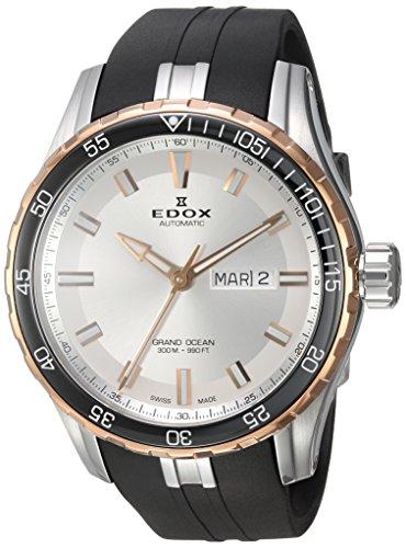 EDOX Homme Analogique Montre avec Bracelet en Caoutchouc 88002 357RCA NIR