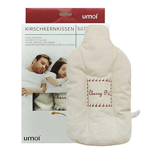 umoi Certificado huesos de cereza COJÍN como agua caliente con 350gramos cerezo núcleos y natural funda de 100% algodón