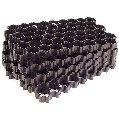 Rasengitterplatten schwarz 1,1 m² NEU Paddockplatten Rasengitter Rasensteine
