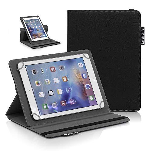 SafeSleeve Universal-Schutzhülle für iPad mit 9-10 Zoll (22,9-25,4 cm) Tablets, einschließlich iPad, iPad Air, iPad Pro 9.7, Galaxy Tab 9.7, Nexus 10, Nook HD+ und mehr, Schwarz