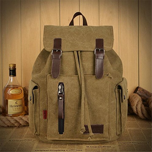 Wmshpeds Moda viaggio di piacere nello zaino tela impermeabile borsa donna borsa a tracolla in tela britannico piccola borsa a tracolla versione coreana della marea C