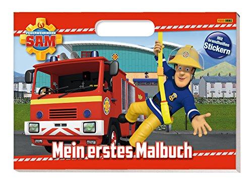 feuerwehrmann sam malbuch Feuerwehrmann Sam: Mein erstes Malbuch: Malbuch mit Henkel und Stickern