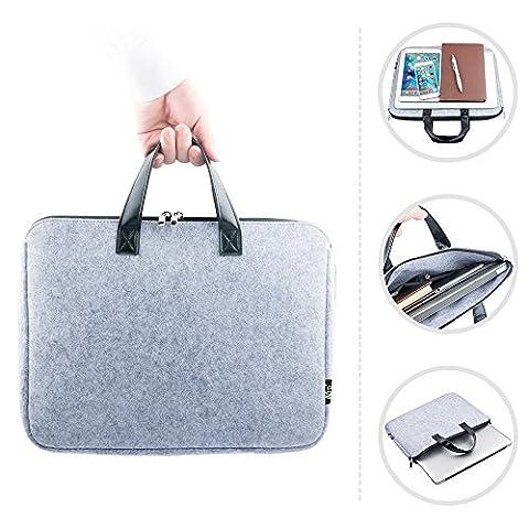 TFDirect Laptophülle Laptoptasche Notebook Filz Sleeve Tasche Hülle Schutzhülle für 15 Apple MacBook Air / MacBook Pro,