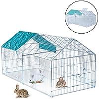 PawHut Jaula Recinto para Animales Pequeños y Mascotas Tipo Gallinas o Conejos para Exterior, Jardines y Patios (Modelo 1)
