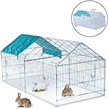 PawHut Jaula Recinto para Animales Pequeños y Mascotas Tipo Gallinas o Conejos para Exterior, Jardines