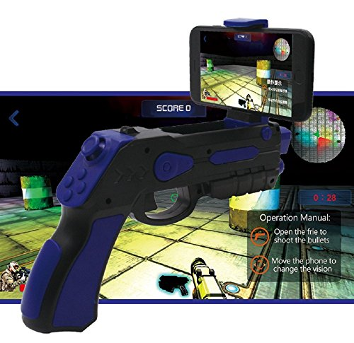 Pistola realidad aumentada AR-Gun® posibilidad juego en pareja app propia con gran variedad de juegos pistola ar gun augmented reality gun pistola ar-gun válida para todos los iphone y android azul