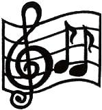 Note de Musique-Écusson à coudre/thermocollant Motif 7,5 cm x 7 cm (2 3/4 \