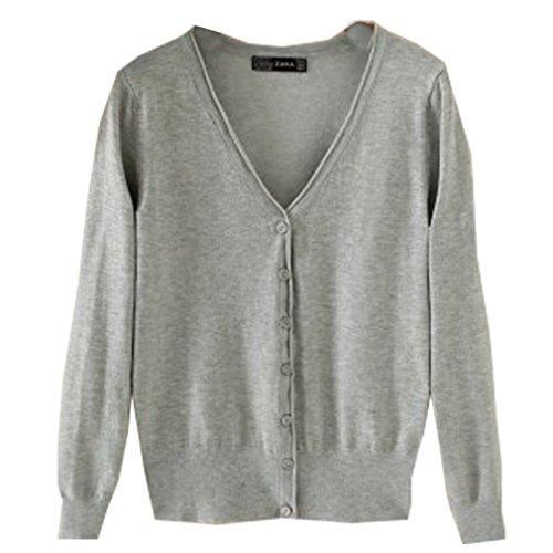 WTUS Ultra Femme Gilet Basique en Coton gris2