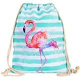 Compagno Turnbeutel Fullprint Rucksack Beutel Tasche Sport-Beutel, Rucksack Farbe:Flamingo