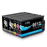 LxTek 950XL 951XL Patronen Ersatz für HP 950 951 Kompatibel mit HP OfficeJet Pro 8610 8600 8620 8100 251dw 8630 8625 8615 (2 Schwarz, 1 Cyan, 1 Magenta, 1 Gelb)