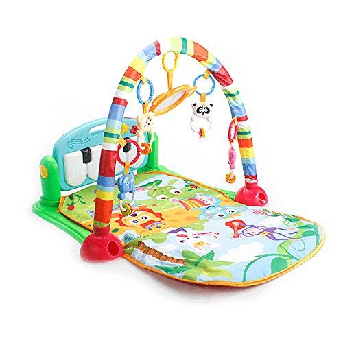 Cozyhoma Baby Kick- und Spielmatte für Kleinkinder, Aktivität, Gymnastik, Neugeborenen-Spielzeug mit Klavier, Fitness-Ablagematte, Lernspielzeug, Babymusik mit Klaviertastatur grün