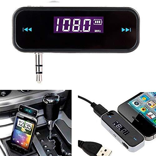 bestbuy-24 FM Transmitter für smartphone mp3, eigebautes Akku Klinkenstecker Auto KFZ kabellos wireless, iphone, ipod, ipad, samsung, nokia, huawei, lg etc. -