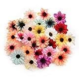 AZXU Fleurs en Soie Artificielle en Gros pour décoration de Maison, Mariage, Couronne, Accessoires artisanaux 80 pièces 5 cm