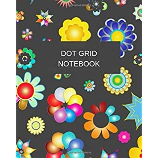 Dot Grid Notebook: Flower Cover - 150 pages (Dot paper) Size 8 X 10 (Volume 15)