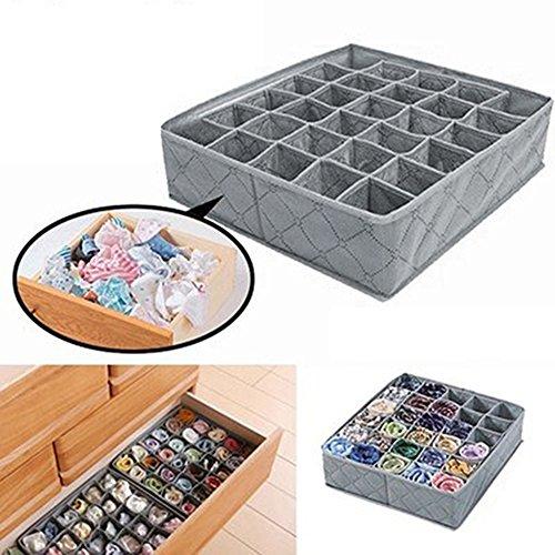 30Zellen Faltbare BH Organizer Storage Box Closet Unterwäsche Schublade Trennwand Behälter für Unterwäsche, BHS, Socken, Krawatten, Schals -