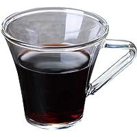 arthomer Tasse Verre Cafe 180ml Tasse Expresso Résistant à La Chaleur Transparent pour Le Café Au Lait Latte Espresso…