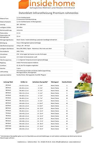 Infrarotheizung Bildheizung PREMIUM rahmenlos mit Bild 900 Watt 120x60x15 cm Motiv kaufen  Bild 1*