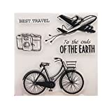 Moonbrid Fahrrad Flugzeuge DIY Silikon Klar Stempel Blatt Scrapbooking Album Foto DIY Weihnachten Valentinstag Thanksgiving Geschenke