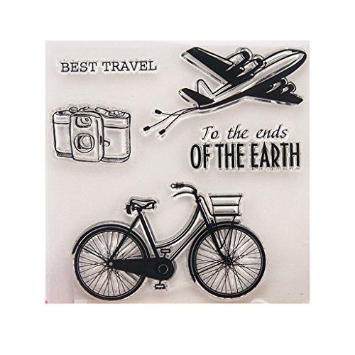 ECMQS Best Travel DIY Transparente Briefmarke, Silikon Stempel Set, Clear Stamps, Schneiden Schablonen, Bastelei Scrapbooking-Werkzeug