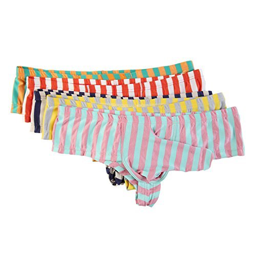 Low Rise Herren-boxer-short (Herren Bikini Slips Unterwäsche Low Rise Strings Shorts Pants Unterhosen 5er Pack (XL, 5-Stück Boxers 2))