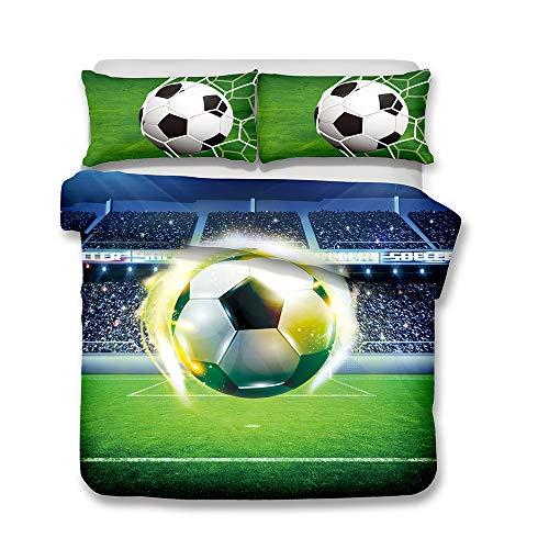 Ropa de cama 180 x 220 cm - Cama 120 cm/135 cm Copa mundial Llama El fútbol 3D Patrón Imprimiendo...