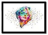 K.Olin Tribu - Affiche Marilyn Monroe White par Alessandro Pautasso, Papier, Blanc, 20 x 30 x 0.1 cm