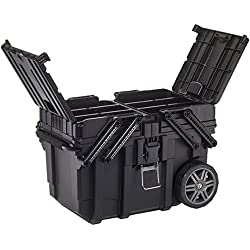 Curver 233743 Carro Horizontal Job Box, Negro, 62.6x35.3x39 cm