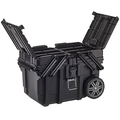 Curver 233743 Job Box - Carro Horizontal, Negro, 62.6 x 35.3 x 39 cm