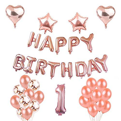 Toupons Décorations de Douche de bébé, premières décorations de fête d'anniversaire Happy...
