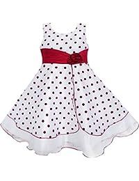 Mädchen Kleid Wein Rot Punkt Tüll Festzug Einzigartig Design Gr. 98-146