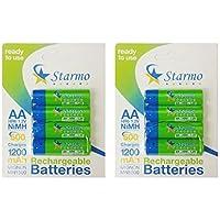 starmo AA MN15001200mAh HR6/1,2V Batterie ricaricabili NiMH pronto all' uso varie quantità, 1200mAh