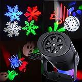 LEDMOMO Proyector de luz Proyector de copo de nieve de alta velocidad ajustable con reflector de paisaje con iluminación dinámica Iluminación de paisaje para cumpleaños, vacaciones, patio, decoración de dormitorio