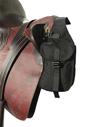 Packtasche vorne | Vorderpacktasche | Satteltasche für Pferde | Sattelpacktasche schwarz klein