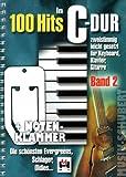 100 Hits in C-Dur Band 2 im Ringeinband inkl. praktischer Notenklammer - Die schönsten Evergreens, Schlager und Oldies zweistimmig leicht gesetzt für Klavier, Keyboard, Gitarre - auch ideal für den Alleinunterhalter (Ringbindung) (Noten/Sheetmusic)